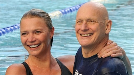Jodie Kidd and Duncan Goodhew
