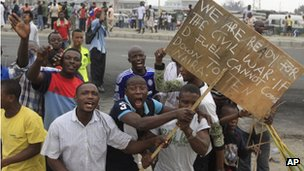 Fuel price protests in Lagos