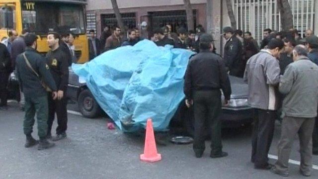 Car bomb scene