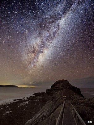 Milky way seen over Cape Schanck