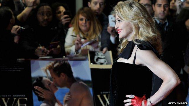 Madonna attends the W.E.UK film premiere in London