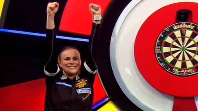Bullseye checkout seals Dobromyslova's Lakeside win