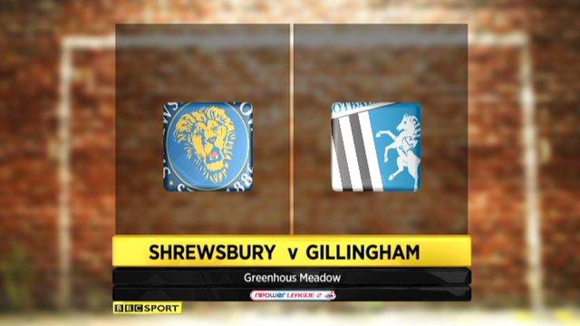 Shrewsbury 2-0 Gillingham