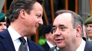 Mr Cameron said he would met Mr Salmond to discuss the referendum