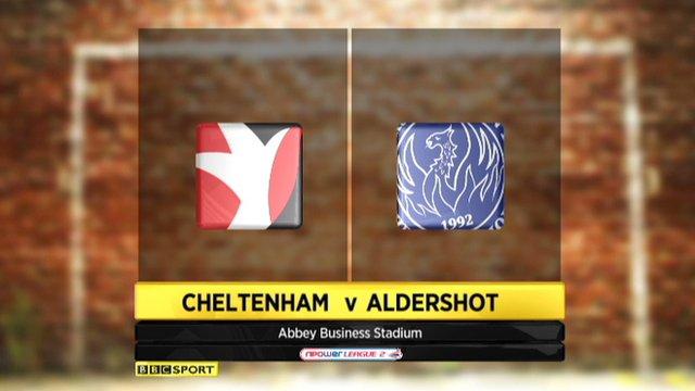 Cheltenham 2-0 Aldershot
