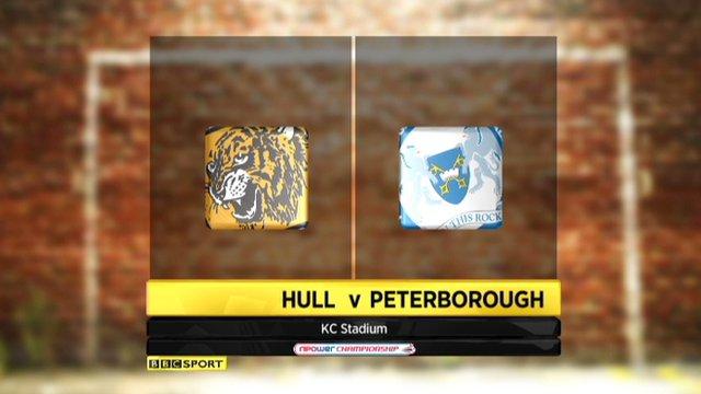 Highlights - Hull 1-0 Peterborough