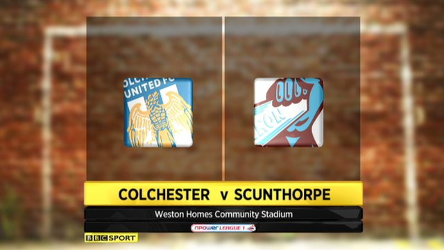 Highlights - Colchester 1-1 Scunthorpe
