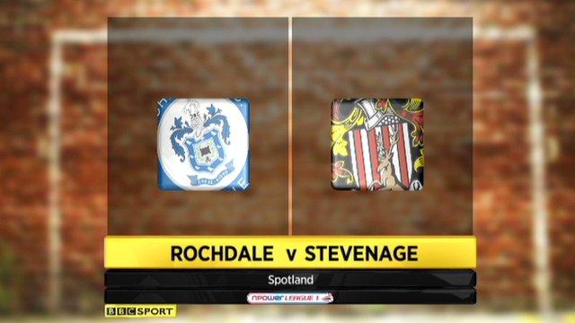 Highlights - Rochdale 1-5 Stevenage