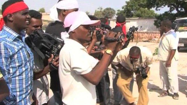 Somali journalists working in hazardous situations
