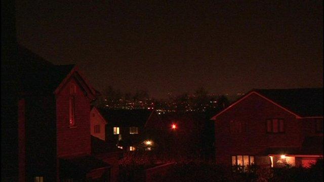 Light pollution over Lancashire