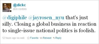Twitter chief executive's tweet