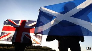 Union jack and saltire