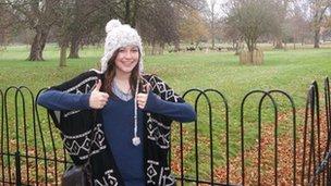 Elly Nowell at Magdalen's deer park