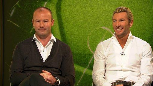 Alan Shearer and Robbie Savage