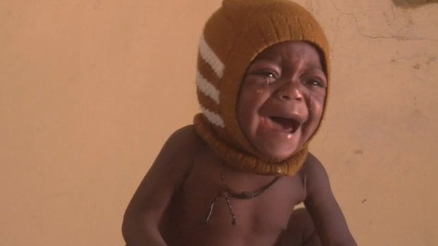 Baby in Niger crying