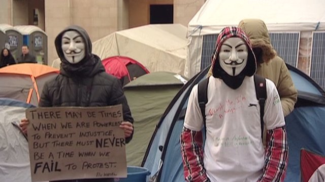 Occupy London protesters