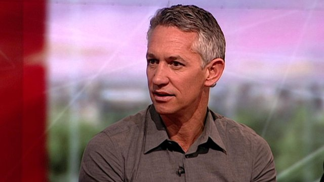 Gary Lineker and Sport relief chief executive Kevin Cahill