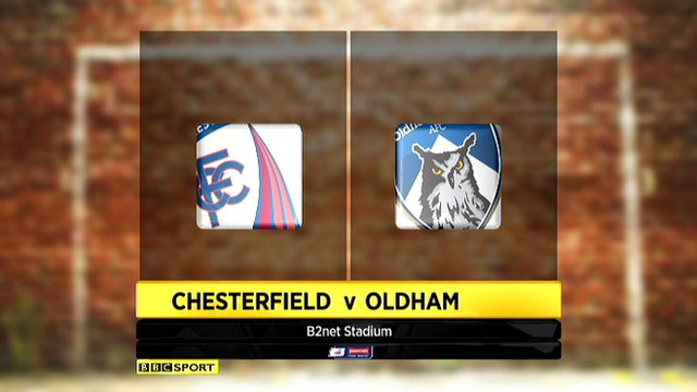 Chesterfield 2-1 Oldham