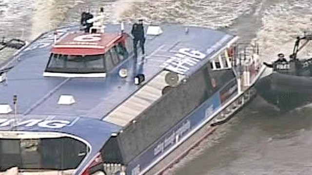 Elite security teams on the Thames