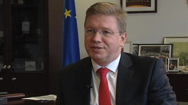 EU's Enlargement Commissioner Stefan Fule
