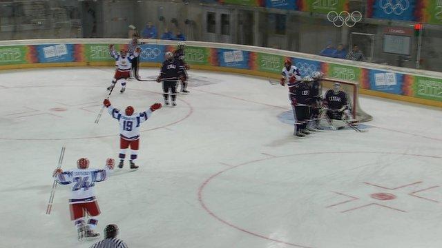 Highlights - Russia thrash USA in Youth Olympics ice hockey