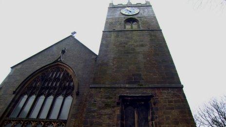 View of Haworth church