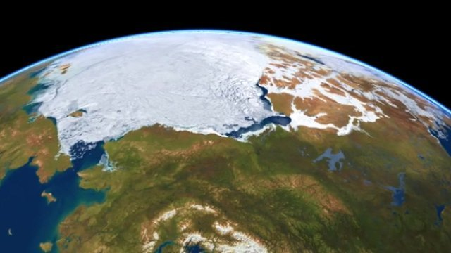 UK scientists use radar satellites to measure a huge bulge of freshwater that is developing in the western Arctic Ocean.