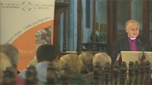 The Archbishop of Wales addressed a recent debate on the subject in a Cardiff city centre church