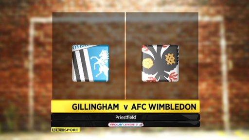 Gillingham 3-4 AFC Wimbledon