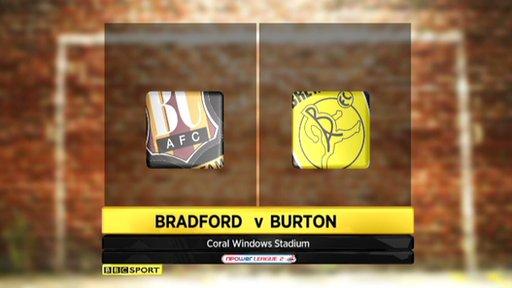 Bradford 1-1 Burton