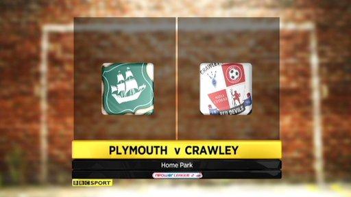 Plymouth 1-1 Crawley