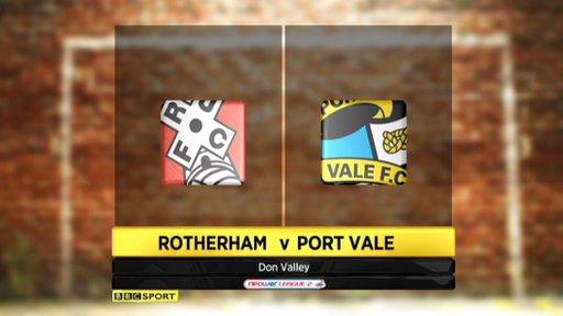 Rotherham 0-1 Port Vale
