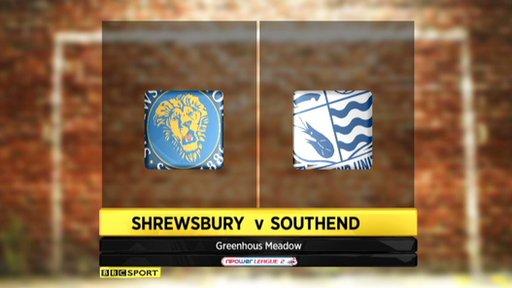 Shrewsbury 2-1 Southend