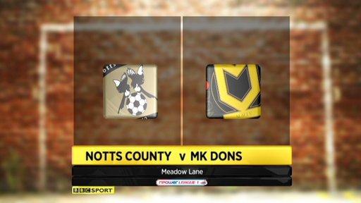 Notts County 1-1 MK Dons
