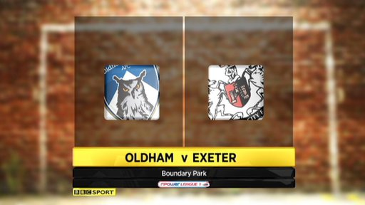 Oldham 0-0 Exeter