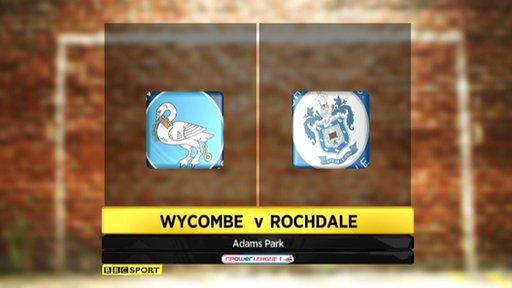 Wycombe 3-0 Rochdale