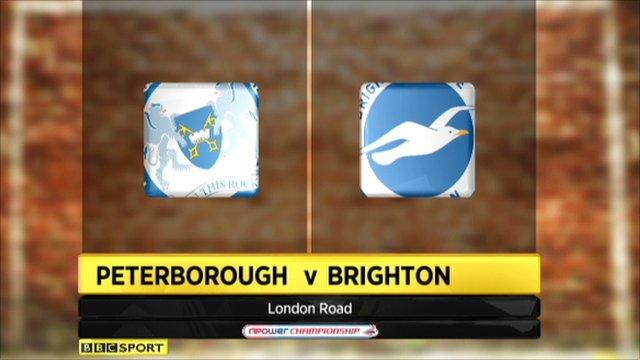 Peterborough 1-2 Brighton