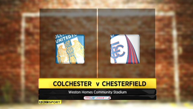 Colchester 1-2 Chesterfield