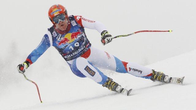 Didier Cuche in action