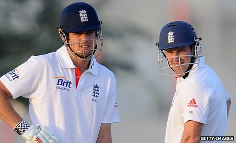 England captain Andrew Strauss and his vice-captain Alastair Cook
