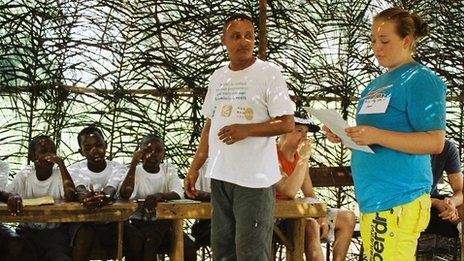 Chantelle Harris in Sierra Leone
