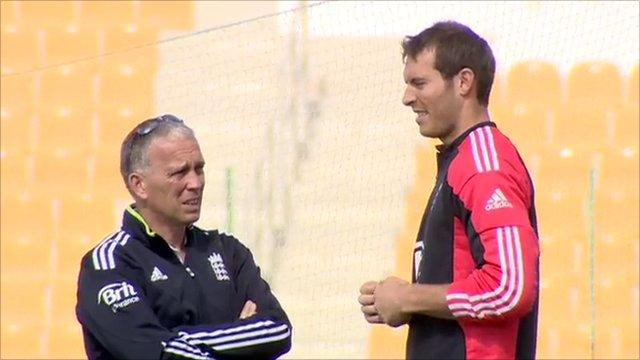 England selector James Whitaker and Chris Tremlett