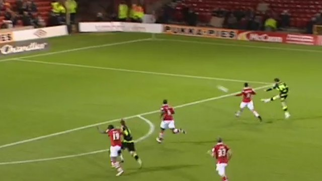Watch Norwich City's new signing Jonny Howson score a spectacular goal for his former club Leeds United
