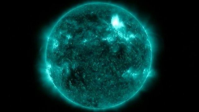 Solar flare image
