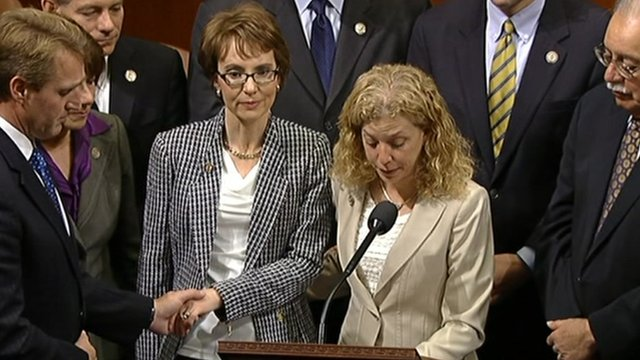 Gabrielle Giffords (left)