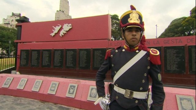 Memorial in Argentina to those killed in the Falklands war