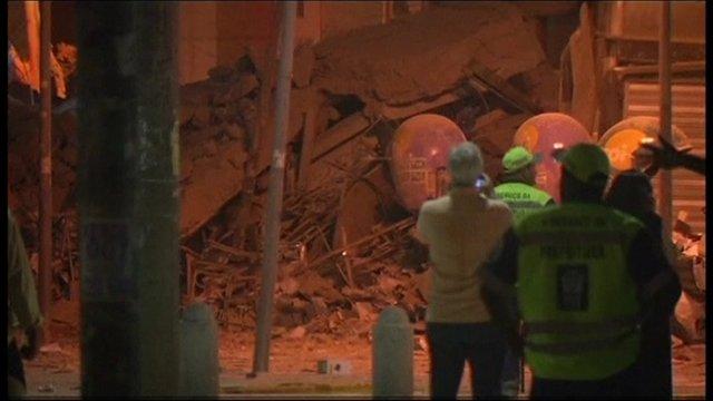 Rio de Janeiro building collapse.