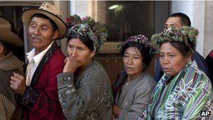 Victims' relatives in Guatemala City on 26 January 2012