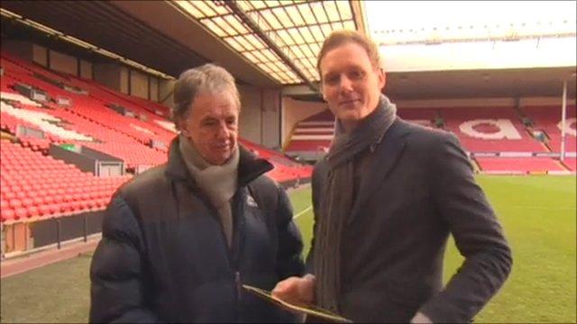 Football Focus presenter Dan Walker and pundit Mark Lawrenson