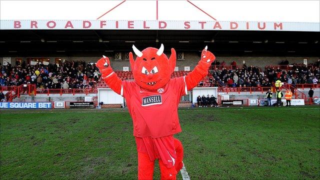Crawley Town's mascot, Reggie the Red